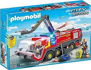 Playmobil 5337 城市行动机场消防车,带灯光和声音