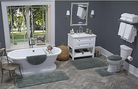 Maples Rugs 浴室地毯,[美国制造][云浴室] 59.69 厘米 x 99.06 厘米防滑浴室垫,适用于厨房、淋浴和浴室