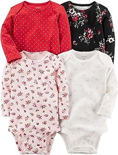 Carter's 卡特中性款儿童 Multi-Pk 连体衣 126g458 Winter Red Girls 3 个月