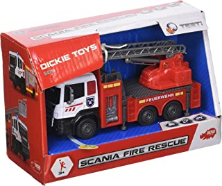 DICKIE TOYS 203712013斯堪尼亚 Fire Rescue 消防汽车带金属机舱和自由