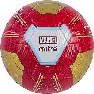 Mitre Kids' Ironman Match Football, Red/Gold, 5