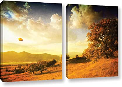 "ArtWall 2 Piece ""Dragos Dumitrascu's Autumn Vision"" Gallery Wrapped Canvas Artwork, 18"" x 28"""