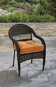 Tempo 座椅垫,纯色,柔软,19.5 x 19.5 x 6(黑色) 橙色