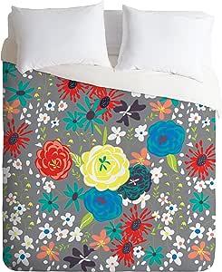 Deny Designs Vy La 被套 Blooming Love Gray Queen 15937-dliqun