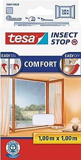 tesa Insect Stop COMFORT 蚊虫窗纱/带魔术贴,可粘贴的蚊帐 白色 100 cm x 100 cm