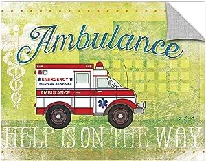 "ArtWall Jennifer Pugh's Ambulance Removable Wall Art Mural, 18"" x 24"""