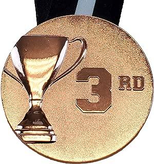 周年纪念 3D 餐杯*章 - 7.62 厘米宽徽章,缝有颈带 - 银色、金色或青铜