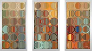 "Picture Perfect International 704-1964-1224 Mark Lawrence ""Circles and Squares 15 MAX"" Framed Plexiglass Wall Art, Set of 3, 13.5"" W x 25.5"" H x 1"" D"