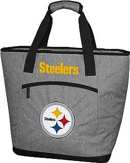 Rawlings NFL 柔软侧面绝缘大手提包冷却袋,30 罐容量,匹兹堡钢人队