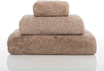 """Graccioza 长双环毛巾系列 - 石头 - 葡萄牙制造,700-GSM,* 埃及棉 石色 Hand Towel (18"""" x 30"""") 340720220565"""