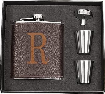 Cathy's Concepts 字母 X 个性化皮革包装*瓶套装,棕色 棕色 1343BN-R