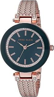 Anne Klein 女士镶施华洛世奇水晶网状手链手表