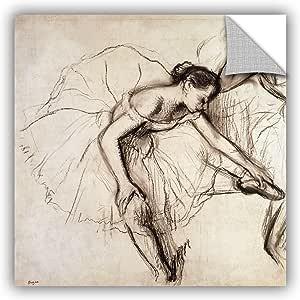 "ArtWall Edgar Degas's Two Dancers Resting Art Appeelz Removable Wall Art Graphic, 14 x 14"""