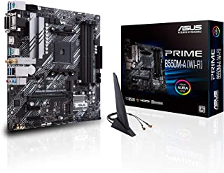 ASUS 华硕 Prime B550M-A WiFi AMD AM4(*三代Ryzen Micro ATX主板(PCIe 4.0,WiFi 6,ECC 内存,1Gb LAN,HDMI 2.1/D-Sub,4K@60HZ,可寻址*二代RGB标头和光环同步)