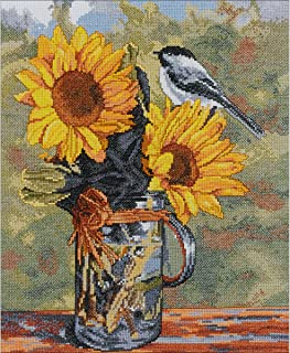 bucilla counted cross stitch kit, 28cm by 36cm, 46471 sunny