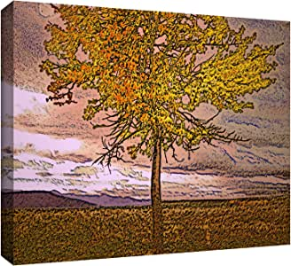 ArtWall Dean Uhlinger 'Teton Meadow Fall' Gallery-Wrapped Canvas Artwork, 18 by 24-Inch