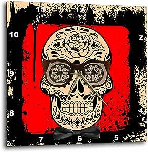 3drose rinapiro–糖头骨–DAY OF THE dead . 太阳镜 . 领结 . 独特设计。–挂钟