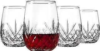 Godinger 酒杯无杯高脚杯,意大利制造 - 都柏林系列,453.59 克,4 件套