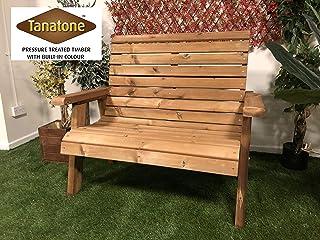 Churnet Valley 花园家具棕色常春藤 2 座长椅
