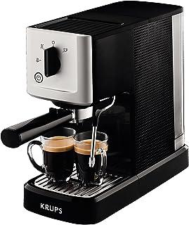 Krups XP3440 Espresso 咖啡机 1L 2 杯 黑色, 银色咖啡机 - 咖啡机(咖啡、手动、浓缩咖啡机、咖啡机、咖啡咖啡咖啡、咖啡机、咖啡机、咖啡机、咖啡色、咖啡色、咖啡色、咖啡色、黑色、银色)