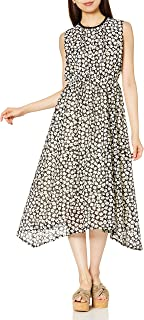 Shampoo 花边连衣裙 花朵蕾丝 不规则下摆连衣裙 女士 203-OP003 黑色 日本 M (日本サイズS-M相当)