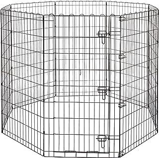 AmazonBasics 亚马逊倍思可折叠金属宠物锻炼和游戏围栏 48英寸