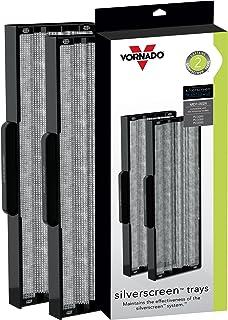Vornado MD1-0024 替换屏幕托盘,用于空气净化器,银色,2 件装