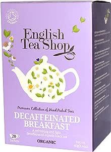 English Tea Shop Decaffeinated Breakfast Tea Bags, 40 Gram (Pack of 6)