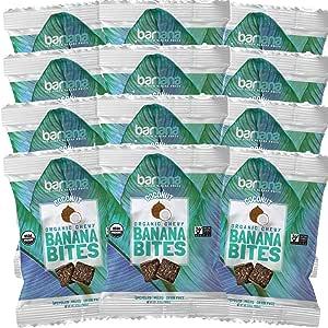 Barnana Organic Chewy Banana Bites, Coconut, 1.4 Ounce, 12 Count