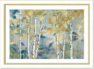 "Casa Fine Arts 镀金森林 I 金属景观档案印花 White and Gold Frame 34.5"" x 24.5"" 7152"