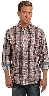 WRANGLER 男式复古西部长袖梭织衬衫