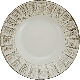 面盘、意大利面盘 潮风棕色压板7.5盛盘 [23 x 4.6cm] 日式餐具 *器 日式*馆 旅馆 业务用