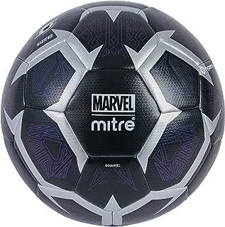 Mitre Kids' Black Panther Match Football, Black/Silver, 5