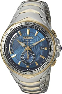 SeikoSSG020 analog two-tone-stainless-steel 双色 SSG020 watches