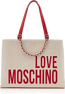 Love Moschino 女式帆布手提包