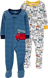 Carter's 卡特 男童 棉质连脚睡衣 2件装