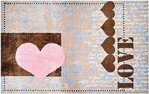 "LS-Mats,设计""爱情心"" 高档脚垫,超细纤维,多色,各种尺寸 多色 50x75cm 1500040005006"