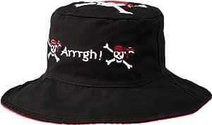 【日本正规品】 翻盖插孔儿童 (FlapJackKids) 可两面穿的夏威夷风帽海盗/奥姆黑/红一套LUV0115L