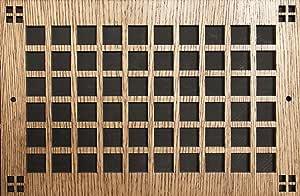 图案切割木格栅:1208 用于墙壁开口(厘米)= 30.48 x 20.32 厘米,整体尺寸(厘米)= 34.29 x 23.49 厘米,樱桃色,图案 M 码