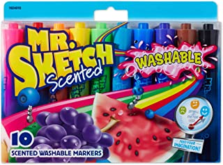 Mr. Sketch 香味可水洗马克笔,Chisel Tip,各种颜色 CHISEL 10-count 杂色