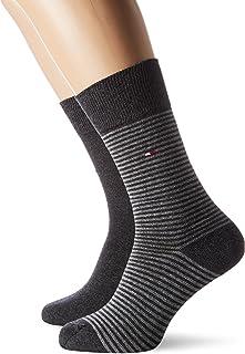 TOMMY HILFIGER 男式小條紋時尚襪子 (2雙裝)