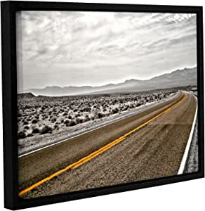 """ArtWall Mark Ross's Slow Curves Gallery Wrapped Floater Framed Canvas, 14 x 18"""""""