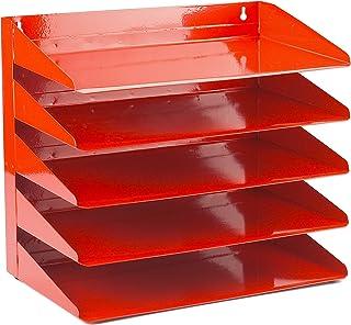 Avery 5 层钢制信箱 红色