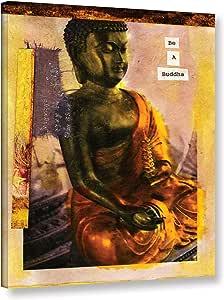 ArtWall Elana Ray's Be a Buddha 画廊包装油画 多种颜色 18x24 0ray103a1824w