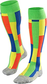 FALKE 男士 SK4 Brick 滑雪袜及膝袜 - 羊毛混纺,1双,不同款 颜色,尺码 39-48 - 湿度调节,速干,加热,直接接触鞋子,轻质软垫