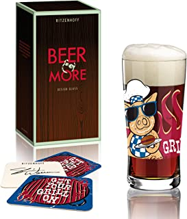 Ritzenhoff Beer & More 玻璃带啤*垫由 Shari Warren 2014 设计,多色