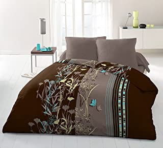 Home Passion Philosophy 超细纤维被套,亚麻色,3 件套,多色,240 x 220 x 0.1 厘米