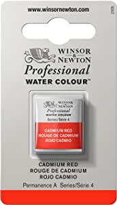 Winsor & Newton Professional Water Color Tube with Half Pan Cadmium Red