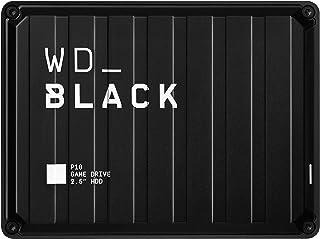 Western Digital 西部数据 黑色P10 5 TB游戏驱动器-便携式外部硬盘驱动器,与PS4 Xbox One PC和Mac兼容
