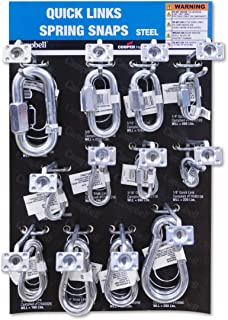 Campbell DD0720168 37 件 15 英寸 x 9.5 英寸快速弹簧扣链接显示分类